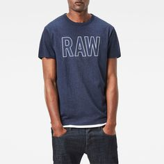 now on eboutic.ch - blue T-shirt for men Blue Jeans, Denim Jeans, G Star Raw, Mockup, Shorts, Sleeve, Mens Tops, T Shirt, Pants