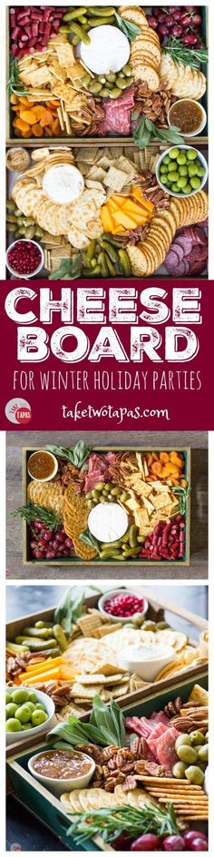 Cheese Board Appetizer Tutorial ~ the perfect addition to any holiday party is a cheese board full of fruits, meats, cheeses, nuts, and olives.perfect for satisfying all of your guests at the same time! Snacks Für Party, Appetizers For Party, Appetizer Recipes, Tapas Party, Fruit Appetizers, Christmas Party Food, Christmas Eve, Cheese Platters, Party Platters