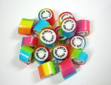 Happy Birthday Rainbow Rock Candy - Pink Frosting Party Favours