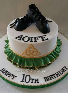 Irish dancing themed cake.