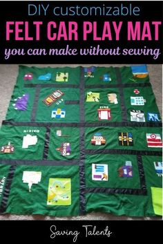 Car play mats can be expensive, and they are usually small and generic. Make your own no-sew car play mat out of felt with these cute DIY ideas.