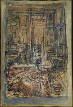Foto: The Artist's Mother by Alberto Giacometti, The Museum of Modern Art, New York . Giacometti pintó a su madre en 1950 Alberto Giacometti, Giacometti Paintings, Figure Painting, Painting & Drawing, Museum Of Modern Art, Life Drawing, Oeuvre D'art, Art History, Piet Mondrian