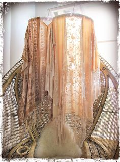 girl on a vine hand dyed peaches n' cream dream kimonos. I'm so in love with the chair too Gypsy Style, Boho Gypsy, Hippie Style, Bohemian Style, Vintage Bohemian, Kimono Fashion, Boho Fashion, Vintage Fashion, Hippy Chic
