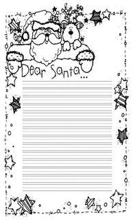 Dear Santa Writing