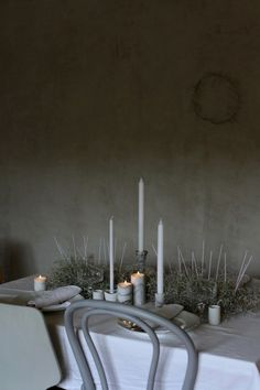 moody marble table setting  by Anastasia Benko