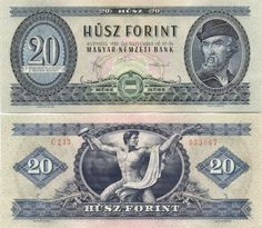Hungary 20 Forint 1980 Coat of Arms; Hungary History, Gold Money, Old Coins, Native Indian, Illustrations And Posters, Coin Collecting, Coat Of Arms, Vintage Ads, Pictures