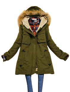 Finally found it, the parka I've been looking (so many years!) Eventhought it is not green (but brown) and there is faux fur hood (don't like fur at all faux or not). It's still perfekt.