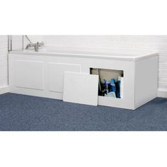 Storage Bath Panel - White