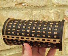 This project has been made on a laser cutter that I used at FabLab Innovation (http://www.fablabinnovation.dk/)Ever since seeing the movie - the Da Vinci Code - I have been fascinated with the cryptex, a small scale combination vault, that can only be unlocked by entering the right word on the scroll, allowing the user to pull out a tube which contains some sort of secret. I decided to construct my own cryptex using laser cut parts, by that I mean only laser cut parts. In this project I…