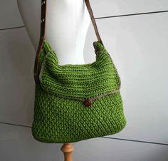 Crochet pattern crochet bag pattern Leather handle by LuzPatterns