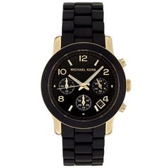 Michael Kors Ladies' Black Chronograph Watch
