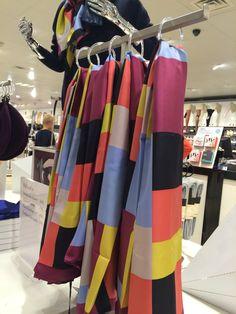 Silk scarves on display #fashion #print #accessories