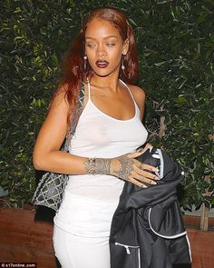 Sight for sore eyes: Rihanna left the Giorgio Baldi restaurant in Santa Monica on Tuesday ...