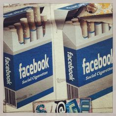 Facebook - a social addiction!  Oakland sticker art.