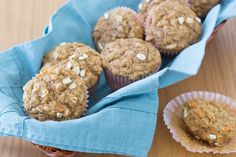 Healthy Carrot Cake Oat Muffins