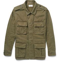 Saint Laurent Cotton and Linen-Blend Field Jacket