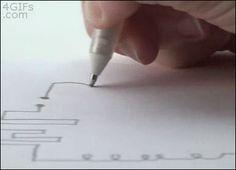 """increibles Tinta conductora Diseñadas bajo el eslogan """"Draw a circuit"""" podrás dibujar un circuito y colocando los componentes en su lugar, obtendrás resultados como este."""