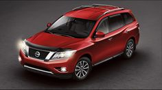Nissan Pathfinder® SV shown in Cayenne Red with Fog Lights