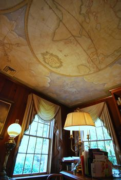 21 Best Maps On Ceilings Images Ceiling Murals Old