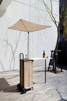 Kiosk /cart idea. Easily transportable. It just may be all you need!