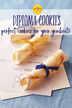 Tuile cookies are an easy spring cookie recipe and perfect for a graduation theme party. Surprise your graduate with diploma cookies containing a fortune!