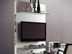 meuble-télé-de-style-insolite-aménagement-gris-tapis-beige-plafond-blanc-murs-gris