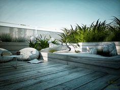 Rooftop garden in Warsaw by Anna Skorupska