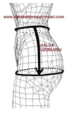 Dikiş Kalıpları ve Patronları: BEDEN ÖLÇÜLERİ NASIL ALINIR? 3d Pattern, Patterns, Sewing Accessories, Embroidery, Model, Dresses, Style, Anatomy, Fashion