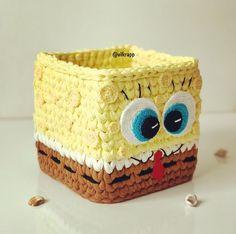 Minion Crochet Patterns, Crochet Quilt Pattern, Crochet Basket Pattern, Crochet Square Patterns, Crochet Motif, Crochet Cup Cozy, Crochet Box, Crochet Backpack, Crochet Leaves