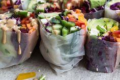 rainbow rolls, hippie lane rice paper rolls, taline gabriel, hippie lane cookbook Source by whatsgabycookin Plant Based Recipes, Raw Food Recipes, Vegetarian Recipes, Healthy Recipes, Healthy Herbs, Simple Recipes, Hippie Lane, Rainbow Roll, Clean Eating