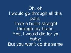 Bruno mars - Grenade Lyrics <3 <3 <3 Toss it in the trash, yes you did!