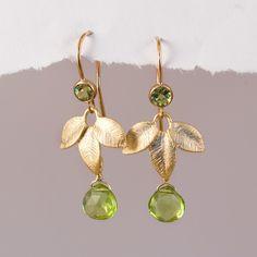 10 Off  August Birthstone Earrings  Peridot Earrings  by delezhen, $48.00