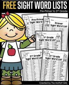 Grab these FREE SIGHT WORD Lists! Direct Link in profil