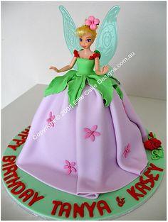 Tinkerbell Birthday Cakes for Girls | BIRTHDAY CAKE SERVING INFO | WEDDING CAKE PLANNING | WEDDING CAKE ...