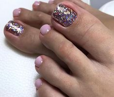 20 Fascinating Summer Toe Nail Designs Ideas Will Blow Your Mind Pedicure Designs, Pedicure Nail Art, Toe Nail Designs, Pretty Toe Nails, Cute Toe Nails, Toe Nail Color, Toe Nail Art, Gel Zehen, Hair And Nails