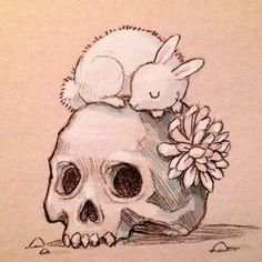 grafika Chiara Bautista, skull, and bunny Art Inspo, Drawing Sketches, Art Drawings, Skeleton Drawings, Hipster Drawings, Couple Drawings, Drawing Faces, Manga Drawing, Drawing Tips