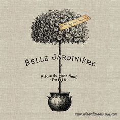 Belle Jardiniere bella giardino Instant Download digitale