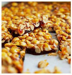 Hulett's Recipe for Yummy Peanut Brittle. Easy Treats To Make, Candy Bark, Homemade Sweets, Peanut Brittle, Candied Nuts, Nigella Lawson, Golden Syrup, Gluten Free Recipes, Sweet Treats