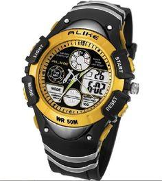 3752ec4f626 50m Water-proof Digital-analog Boys Girls Sport Digital Watch with Alarm  Stopwatch Chronograph