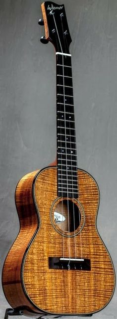 Jeb Wiemer Tenor Ukulele #LardysUkuleleOfTheDay ~ https://www.pinterest.com/lardyfatboy/lardys-ukulele-of-the-day/ ~ Simple elegance from Hawaii