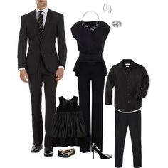 """All Black Family Portrait Outfit"" by elitepd on Polyvore"