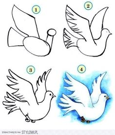 Drawings Easy Drawing-Tutorial-for-Occasional-Artists - While there are tons of things out there to draw, it is not simple always. However, these Drawing Tutorial for Occasional Artists will help you out. Art Drawings For Kids, Bird Drawings, Pencil Art Drawings, Art Drawings Sketches, Drawing For Kids, Cartoon Drawings, Animal Drawings, Easy Drawings, Drawing Ideas