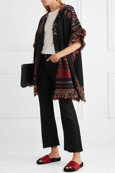 Etro   Fringed hooded jacquard-knit wool-blend jacket   NET-A-PORTER.COM
