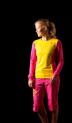 Norrona womens fjora mountainbike shorts & long sleeve shirt
