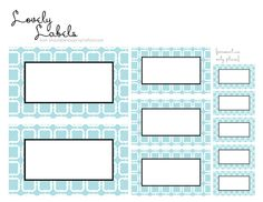 i should be mopping the floor: Friday's Freebie: Lovely Label Printables
