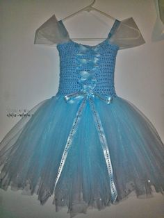 Cinderella Disney Inspired Crochet Tutu Dress by Beautitulle, $39.99