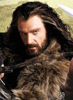 Richard Armitage as Thorin Oakenshield in The Hobbit Hobbit Art, O Hobbit, Hobbit Hole, Aragorn, Legolas, Richard Armitage, Misty Eyes, Cinema Tv, Plus Tv
