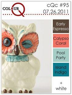 colourQ #95: July 2011 Early Espresso Calypso Coral Pool Party Island Indigo