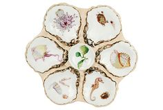 19th-C. Haviland Limoges Oyster Plate - this is so beautiful