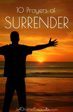 For a Christian to acknowledge God's sovereignty and offer a prayer of surrender to the Lord is powerful. Here are 10 prayers of surrender. Prayer Scriptures, Bible Prayers, Faith Prayer, Bible Verses Quotes, Faith Bible, Surrender To God, Prayer For Family, Spiritual Messages, Christian Faith